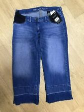 BNWT next maternity jeans ankle wide leg crop 12 R Autumn NEW