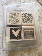 Stampin' Up - Letters of Love - set of 4 rubber stamps (2002)