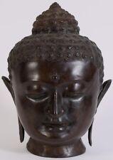 """Monumental 13"""" Thai Thailand ? Laos ? Metal head of the Buddha ca. 20th century"""