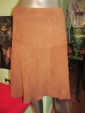 LAUREN RALPH LAUREN   Womens Brown Goat Suede Skirt  SZ 16 MSRP $498.00