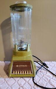 Vintage Dormeyer Retro Green Blender w/ Glass Pitcher, Works!