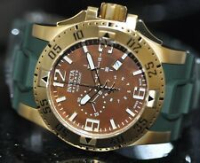 Invicta Mens Rare Excursion Swiss Reserve Chrono Brown MOP Dial Poly Watch 80714