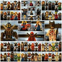 Set of 10 Super Heroes Minifigures DC Comics Star Wars X-Men Justice League New
