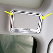 Inner Rear Make-up Mirror Light Cover Trim 2pcs For Benz C Class W205 2014-2017