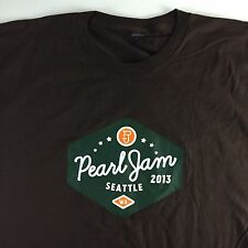 NEW Pearl Jam 2013 Concert Band Shirt Size L Large North American Tour Brown NOS