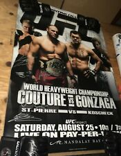 UFC 74 SBC Signed Auto Poster Randy Couture Georges st Pierre Pride Fc Bellator