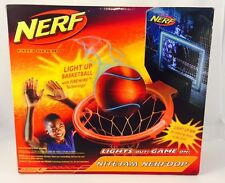 New & Rare! Hasbro Nerf Nite Jam Nerfoop Basketball Set- Light Up Basketball!