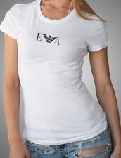EMPORIO ARMANI white womens T-Shirt EA Logo --Slim fit-- Size S, M