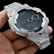 Authentic G-Shock G Shock Custom Men's Simulated White Diamond Watch GD-100 New