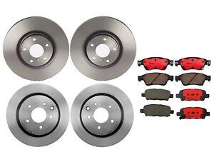 Brembo Front and Rear Brake Kit Disc Rotors Ceramic Pads For Infiniti G37 Sedan