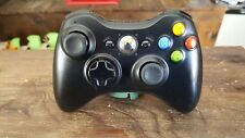 Original Microsoft Xbox 360 S Black Wireless OEM Controller Authentic Tested