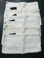 6 Thick Towels Luxury Washcloth Guest Hand Ivory Bomboo/Cotton