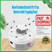 Electric Fly Trap Device with Trapping Food - White USB Cable Insect Killer