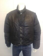 Schott Leather and Goose down jacket with zip off sleeves to make into a gilet.