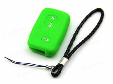 Green Silicone Case Cover For Toyota Land Cruiser Prius Camry Smart Key 3 Button