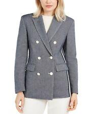 Escada Women's Double-Breasted Blazer, Ocean Blue, Size 44