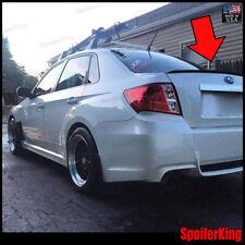 Rear Trunk Lip Spoiler Wing (Fits: Subaru Impreza 2007-11 4dr) SpoilerKing