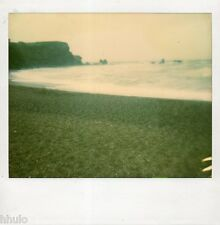 POL604 Polaroid Photo Vintage Original landscape paysage mer sea plage