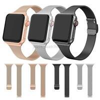 Fr Apple Watch SLIM Milanese Loop Band Stainless Steel iWatch Series 5 4 38/42mm