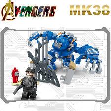 MARK38 MK38 Avengers Iron Man Patriot Super heroes Minifigures Kids Toys