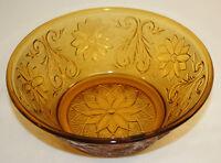 Vintage Indiana Glass Tiara Gold Amber Small Serving Bowl