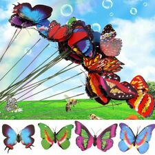 20Pcs Colorful Butterfly Stakes Outdoor Yard Garden Flower Pot Decor Ornaments