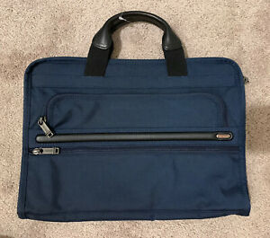 Tumi Alpha Organizer Portfolio Briefcase 026108D2 Blue