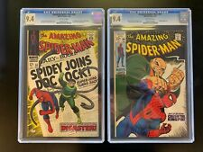 SUPER SALE!! AMAZING SPIDER-MAN #56 and 69 BOTH CGC 9.4  NEAR MINT 1st Cap Stacy