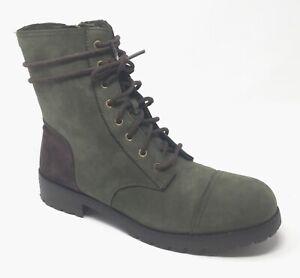 Ugg Australia Kilmer Slate Green Women's Sz 10 Lace Up Waterproof Winter Boots