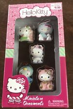 VERY RARE Hello Kitty Miniature Ornament Set Of 5 - NIB