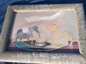 Sterling Strauser,Unicorn&/Elephant Child's Toy,Still Life,Early,Pennsylvania