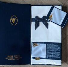 More details for thomas ferguson vintage irish linen napkins *bnib* cream damask, scroll, 22