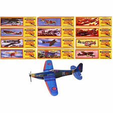12 World War 2 / WWII Planes - Flying Gliders Children's Party Bag Filler Toys