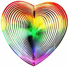 WIND TWISTER DECORATION HEART Shaped Rainbow Colors  Garden Décor Outdoors New I