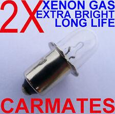 2 X Flash light Bulbs 15.6V for PANASONIC HILTI Torch camping finishing Caravan