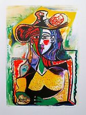 "Pablo Picasso PORTRAIT OF A WOMAN Estate Signed & Numbered Giclee Art 26"" x 20""."