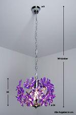 Lustre Lampe de salon Dessin Moderne Plafonnier Lampe à suspension Violet 35127