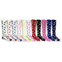 NEW RED LION PAW PRINT ATHLETIC KNEE HIGH SOCKS SOCCER BASKETBALL VOLLEYBALL