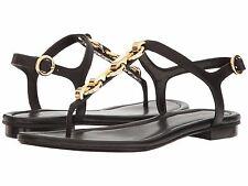 MICHAEL Michael Kors Mahari Leather Thong Sandals, Black Size 6.5 40S7MHFA1L
