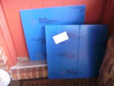 "CLEAR ACRYLIC PLEXIGLASS SHEET PANEL ( 22 5/8 "" X 22 5/8 "" X 1/8 "") 2 PC"