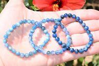 Premium CHARGED Blue Kyanite Crystal 4mm-7mm Bead Bracelet Stretchy ENERGY REIKI
