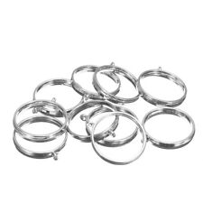 10Pcs 25mm Silver Pendant Trays Bezel Cabochon Setting Jewelry Blank Round Penda