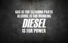 Diesel is for power 5'' vinyl car sticker decal l buy 1 get 1 free duramax