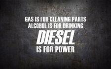 Diesel is for power 5'' vinyl car sticker decal l buy 1 get 1 free duramax