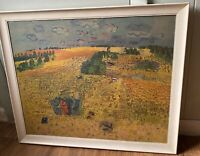Vintage Framed Raoul Dufy The Wheatfield Print Art Reproduction Wood Frame Large