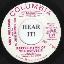Andy Williams POP FOLK 45 (Columbia 44650 PROMO) Battle Hymn Of The Republic