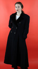 Vintage black Valentino double breasted long evening coat size L