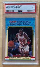 1988 Fleer Michael Jordan Chicago Bulls Sticker #7 PSA 5 EX New Slab