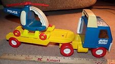 VINTAGE 1983 TONKA Load Ranger Truck Toy Semi Orange BUDDY L TRAILER + HORSES !!