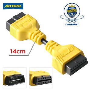 OBD OBDll 16 Pin Extension Male to Female Diagnostic Extension Cable 14cm